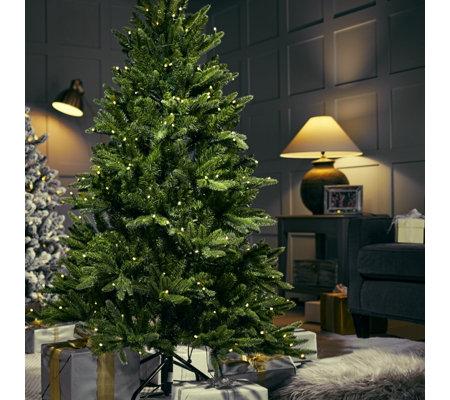 santas best 108 function pre lit european fir christmas tree remote control - European Christmas Tree