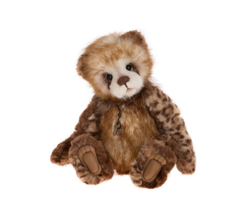 "Charlie Bears Collectable Tegan 14"" Plush Bear"