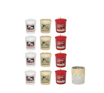Yankee Candle The Perfect Christmas Set of 12 Votives & Votive Holder - 707890