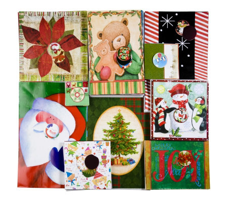 Lindy Bowman 24 Christmas Gift Boxes with Wrap & Gift Tags