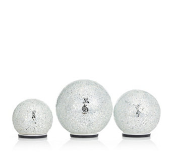 Mr Christmas Set of 3 Illuminating Mosaic Spheres - 706995