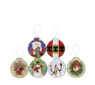 Lindy Bowman 6 Piece Embossed Ornament Gift Card Tins