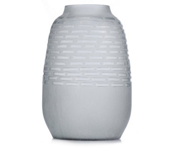 K by Kelly Hoppen Large Etched Frosted Glass Vase - 706899