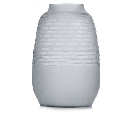 K by Kelly Hoppen Large Etched Frosted Glass Vase