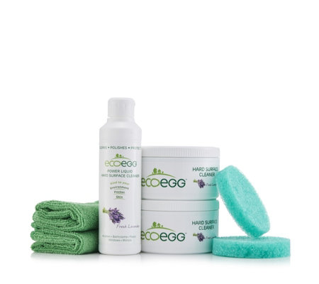 Ecoegg Set of 2 Hard Surface Cleaners, Liquid Cleaner, Cloths & Sponges
