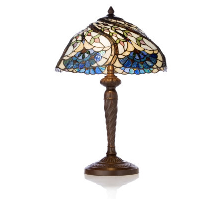 Tiffany Styled Handcrafted Elegant Swirl Table Lamp