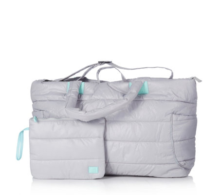 Travel Style Quilted Weekender & Small Bag Set