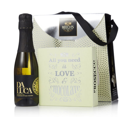 Beech's Fine Chocolates Prosecco & Chocolate Truffles Gift Box