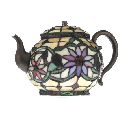 Tiffany Style Handcrafted Teapot Novelty Lamp