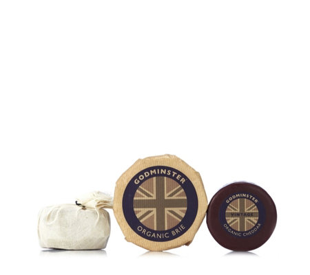 Godminster 3 Piece Organic Cheddar & Brie Selection