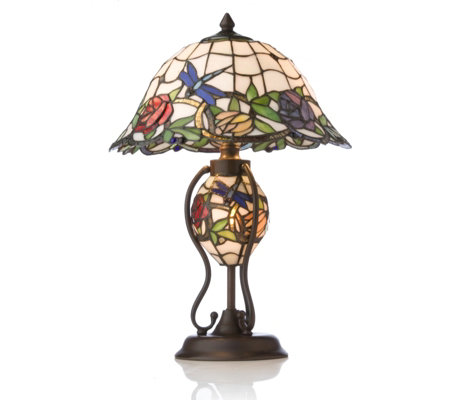 Tiffany Style Handcrafted 3D Rose Garden Lit Base Table LampTiffany Style Handcrafted 3D Rose Garden Lit Base Table Lamp   QVC UK of Tiffany Style Lamps Qvc Uk