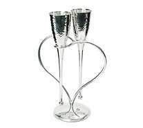 Culinary Concepts Entwined Hearts Lovers Flutes - 806313