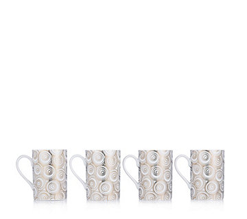 JM by Julien Macdonald Miami Set of 4 Porcelain Mugs in Gift Box - 805917