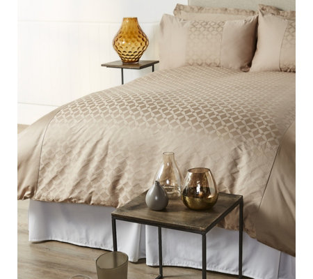 K by Kelly Hoppen 800TC Egyptian Cotton Amalfi Jacquard 6 Piece Duvet Set