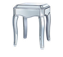 JM by Julien Macdonald Signature Mirrored Side Table - 805020