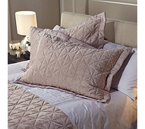 Kelly Hoppen Origami Embroidered 2 Reversible Pillow Shams - 803223