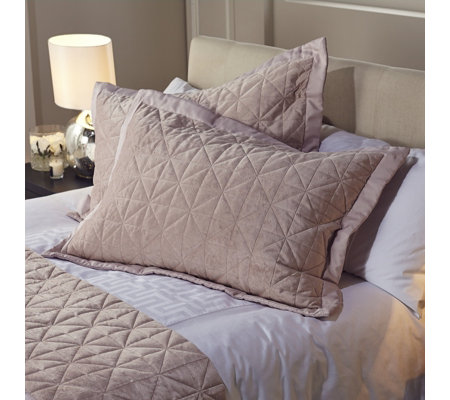 Kelly Hoppen Origami Embroidered 2 Reversible Pillow Shams