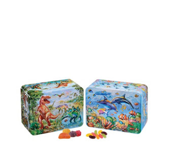 Churchill's Confectionery Set of 2 Sealife & Dinosaur Tins with Sweets - 806223