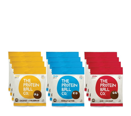 The Protein Ball Company Set of 12 Assorted Protein Ball Packs