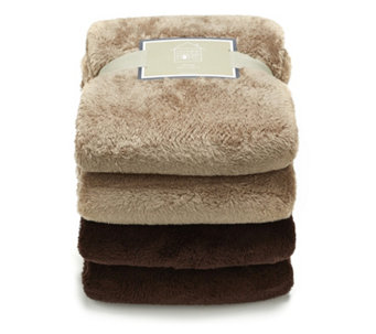 Cozee Home Set of 2 Ultra Fluffie Throws 150cm x 200cm - 805129