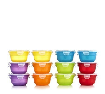 lock lock 12 piece mini bowl multi colour storage set. Black Bedroom Furniture Sets. Home Design Ideas