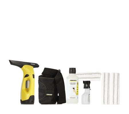 Karcher wv2 window vacuum cleaner with spray detergent for Window karcher