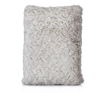 Cozee Home Luxury Heated Faux Fur Cushion - 806336