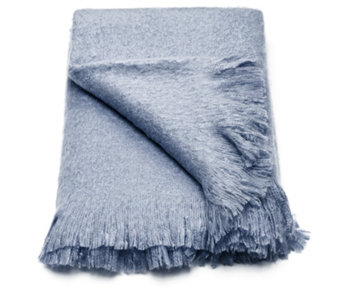 "Alison Cork Faux Mohair Throw with 4"" Fringe - 803938"