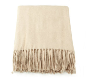 K by Kelly Hoppen Faux Cashmere Fringed Throw - 805938