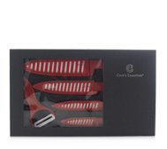 Cook's Essentials 4 Piece Ceramic Knives Set with Peeler