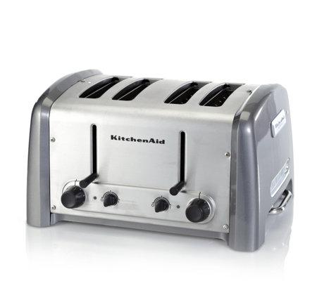 Kitchenaid artisan 4 slice toaster page 1 qvc uk - Artisan toaster slice ...