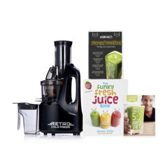 Jason Vale Retro Slow Juicer w/ Hardback Book 28 Day DVD & Wall Planner - 805840