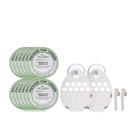 Ecoegg 12 Fresher for Longer Discs with 2 Holders