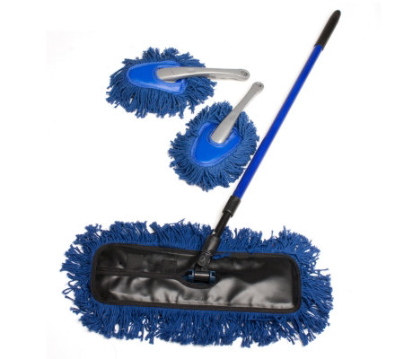 Home Valet Waxed Floor Duster Set With Floor Duster Amp 2