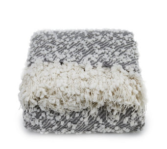 Cozee Home Boucle Knit Throw with Fringe - 805741