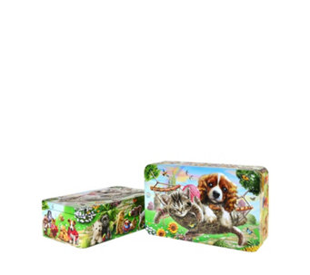 Churchill's Confectionery 2 Piece Mickey's Garden Party Tins with Biscuits - 806143