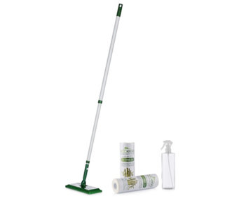 Ecoegg Flex Head Mop with Reusable Cleaning Towels & Spray Bottle - 805049