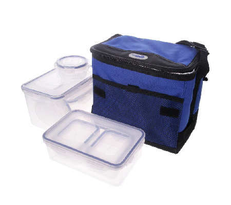 lock lock 8 piece airtight storage container set with cooler qvc uk. Black Bedroom Furniture Sets. Home Design Ideas