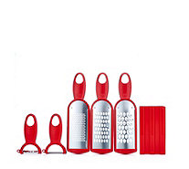 Kuhn Rikon 3 Piece Grater Set with 2 Swiss Peelers - 806252