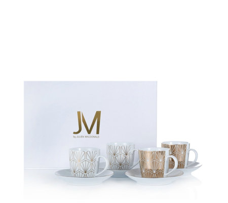 JM by Julien Macdonald Deco Collection 4 Piece Porcelain Espresso Set