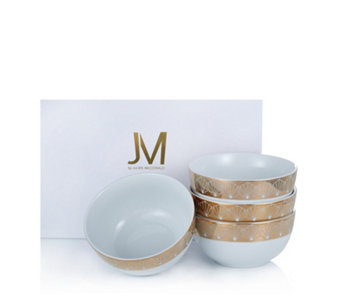 JM by Julien Macdonald Deco Collection Set of 4 Porcelain Bowls - 806456