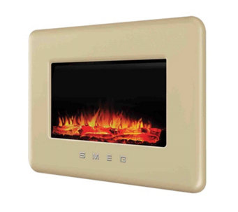 Smeg Retro L30FABE Wallmounted Electric Fireplace w/Remote Control - 805760