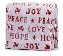 Cozee Home Velvet Soft Love, Peace, Hope Throw - 805262
