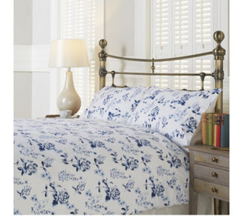 Northern Nights Blooming Rose Flannel 4 Piece Duvet Set - 806765