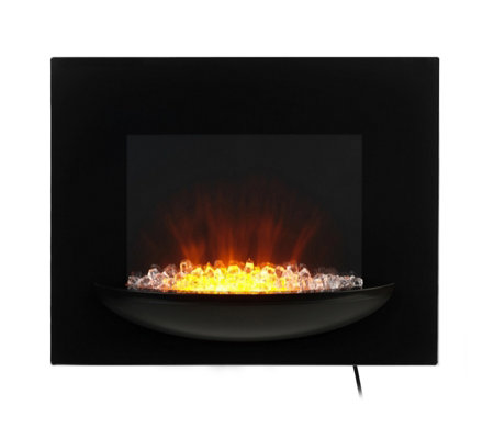 beldray attica led colour changing electric wall fire with. Black Bedroom Furniture Sets. Home Design Ideas
