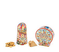 Churchills Churchill's Confectionery Set of 2 Fairground Tins with Biscuits - 807476