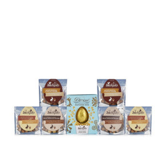 Joe & Seph's Divine Milk Chocolate Egg with 6 Assorted Popcorn Bags - 806078