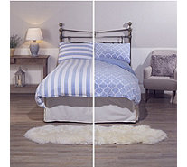 Cozee Home Set of 2 Reversible Fleece 4 Piece Duvet Sets - 805379