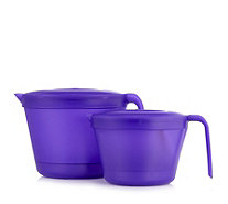 Kuhn Rikon Set of 2 Microwave Cookware Jugs with Lids - 802081