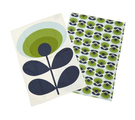 orla kiely set of 2 tea towels qvc uk. Black Bedroom Furniture Sets. Home Design Ideas